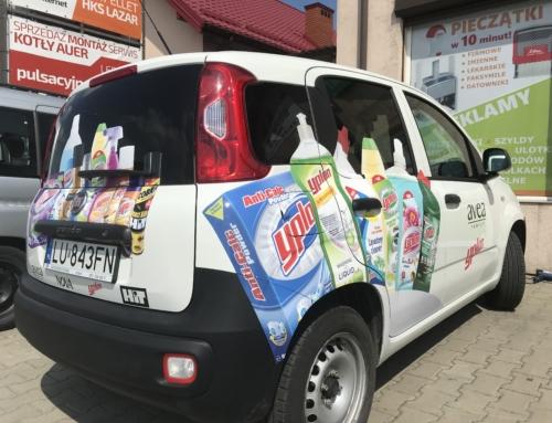 Oklejenie samochodu dla firmy PHU GUSTAW