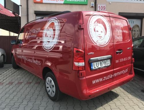 """Oklejenie samochodu dla firmy """"ZUZIA"""""""